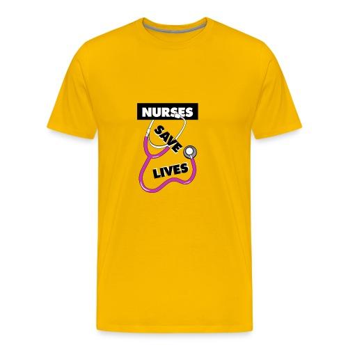 Nurses save lives pink - Men's Premium T-Shirt