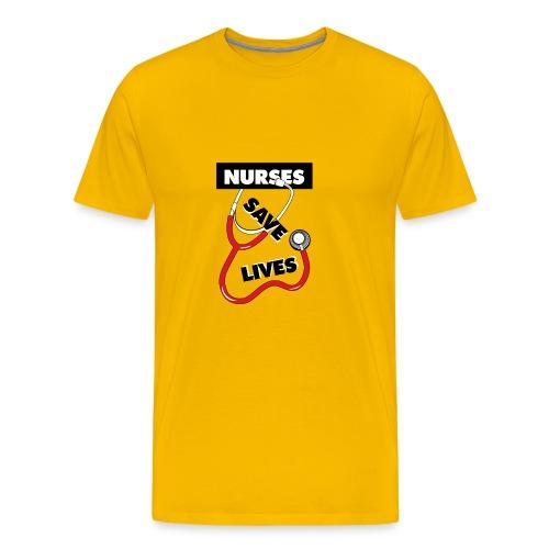 Nurses save lives red - Men's Premium T-Shirt