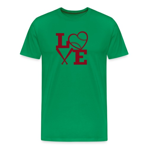Love baseball - Men's Premium T-Shirt