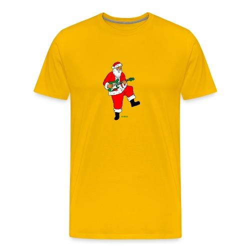 santa clause guitar - Men's Premium T-Shirt