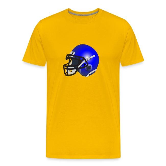 blue football helmet