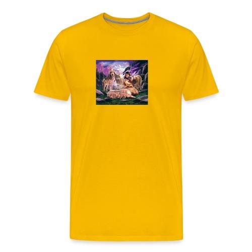Wolfs with Indian - Men's Premium T-Shirt