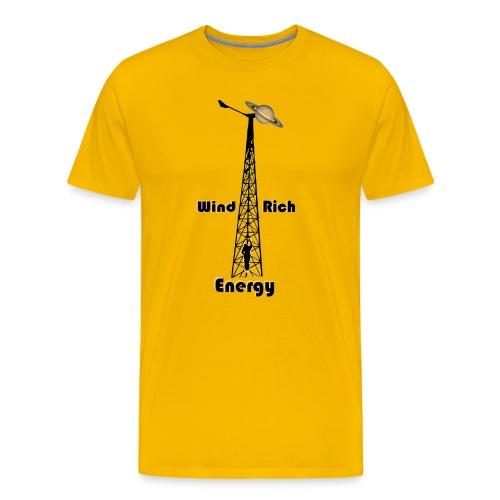 Climbine Saturn Wind Rich - Men's Premium T-Shirt