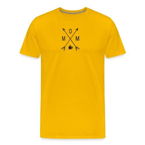 Mom Loves Coffee (black ink) - Men's Premium T-Shirt