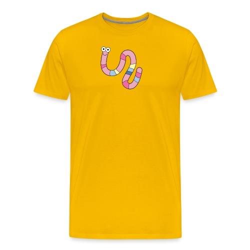 Squirmy Wormy (plain) - Men's Premium T-Shirt