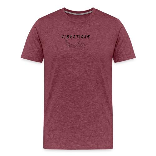 Vibrations Abstract Design - Men's Premium T-Shirt