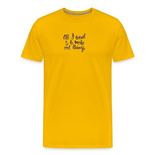 Cool Things Navy - Men's Premium T-Shirt