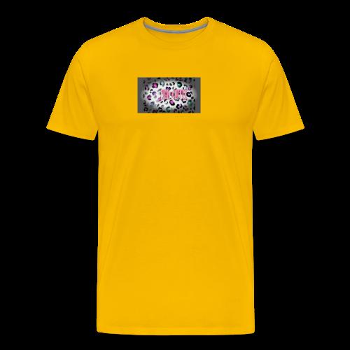 Pink Coffee Logo #1 - Men's Premium T-Shirt