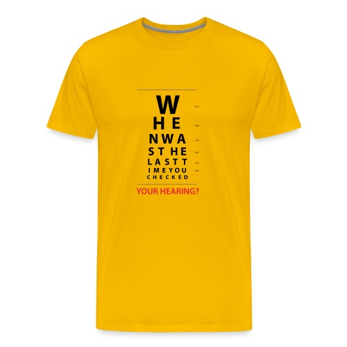 HEARING EYE CHART - Men's Premium T-Shirt