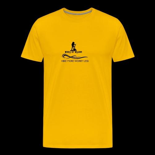 Hike More Worry Less - Men's Premium T-Shirt