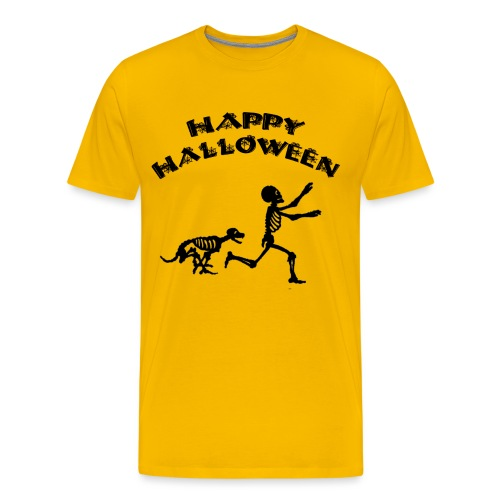 Halloween Boy and Dog - Men's Premium T-Shirt