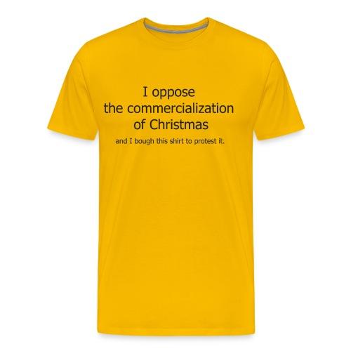 Christmas Commercialization Ladies T - Men's Premium T-Shirt