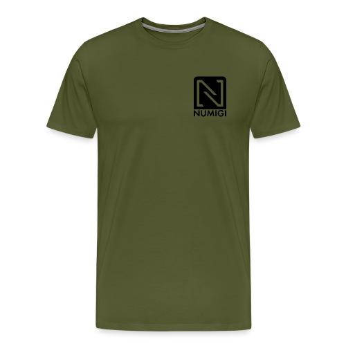 Jaune avec NUMIGI logo BW - Men's Premium T-Shirt