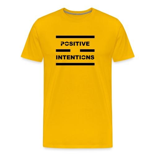 Positive Intentions Black Letters - Men's Premium T-Shirt