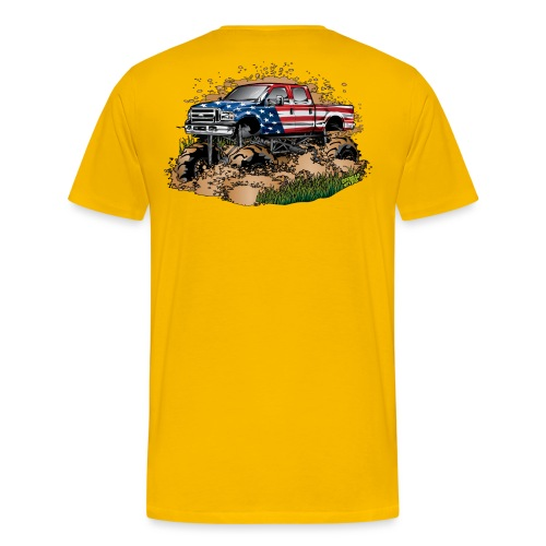 Mega Mud Truck USA - Men's Premium T-Shirt