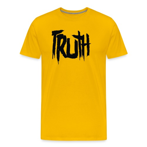 TruthLogo01 Black png - Men's Premium T-Shirt