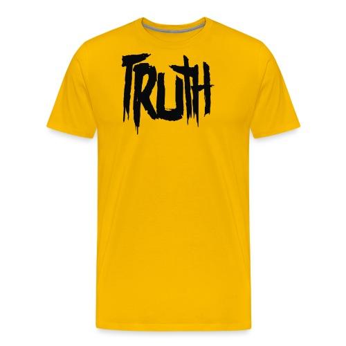 TruthLogo01 Black png - Men's Premium T-Shirt