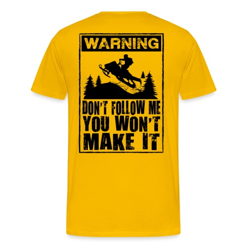 Snowmobiling Sign - Men's Premium T-Shirt