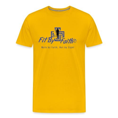 FitbyFaith back png - Men's Premium T-Shirt