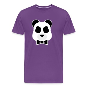 Doost the Panda (White Outline) - Men's Premium T-Shirt