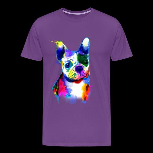 French Bulldog I colorful dog - Men's Premium T-Shirt