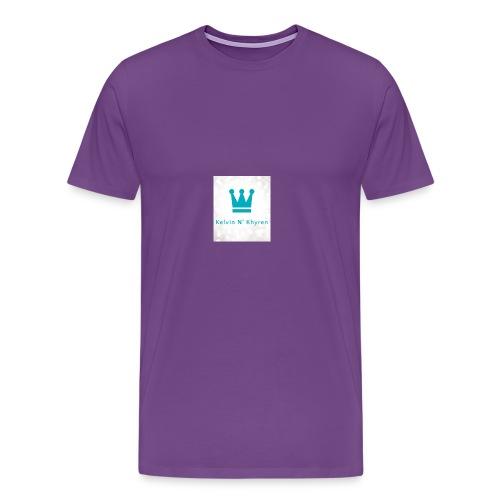 Back Ground Sparks on Blue Classic - Men's Premium T-Shirt