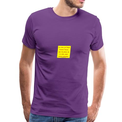 frases lindas risa y buen humor - Men's Premium T-Shirt