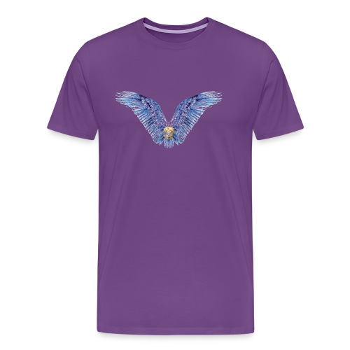 Wings Skull - Men's Premium T-Shirt