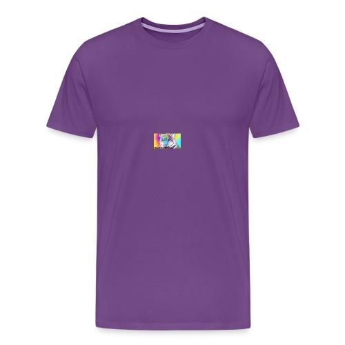 Rainbow Tiger Design Cases - Men's Premium T-Shirt