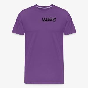 messy text logo - Men's Premium T-Shirt