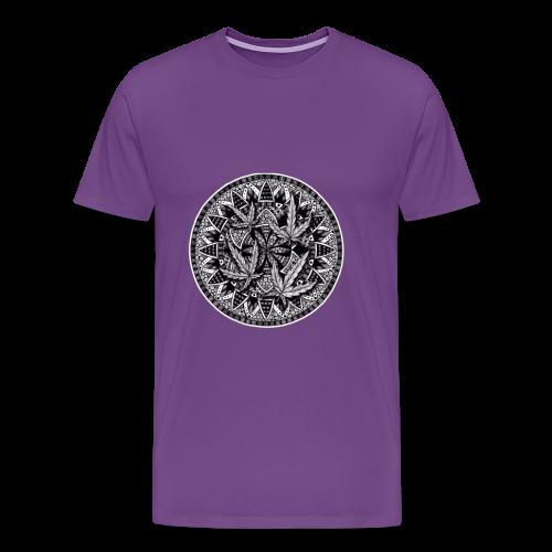 Weed Leaf Design - Men's Premium T-Shirt