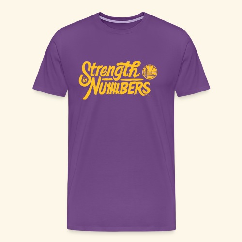 strength in numbers golden states - Men's Premium T-Shirt