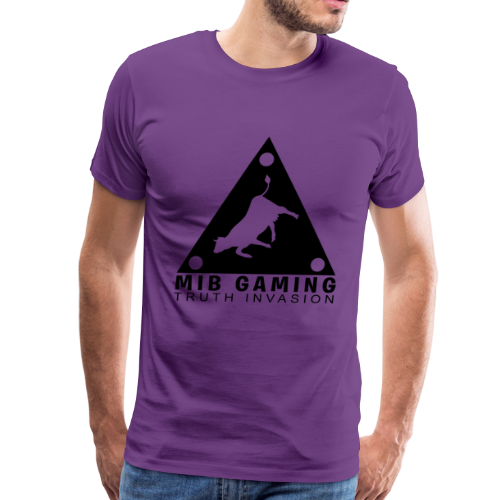 MIB LOGO: TRUTH INVASION TRIANGLE UFO - Men's Premium T-Shirt