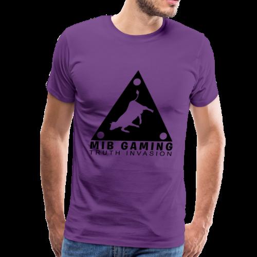 MIB LOGO: TRUTH INVASION TRIANGLE UFO - Men's Premium T-Shirt