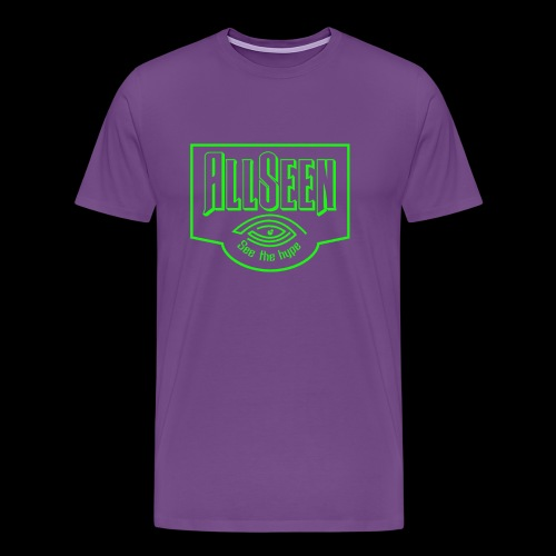 Green AllSeen Logo - Men's Premium T-Shirt