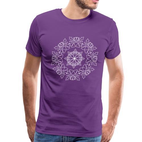 NOLA Fleur de Lis | Mandala Snowflake - Men's Premium T-Shirt