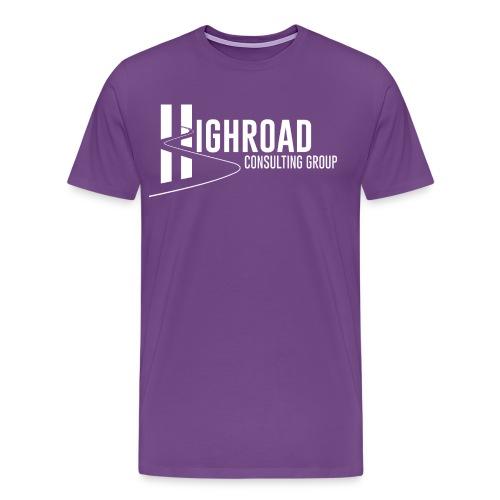 Highroad logo Overlay White - Men's Premium T-Shirt
