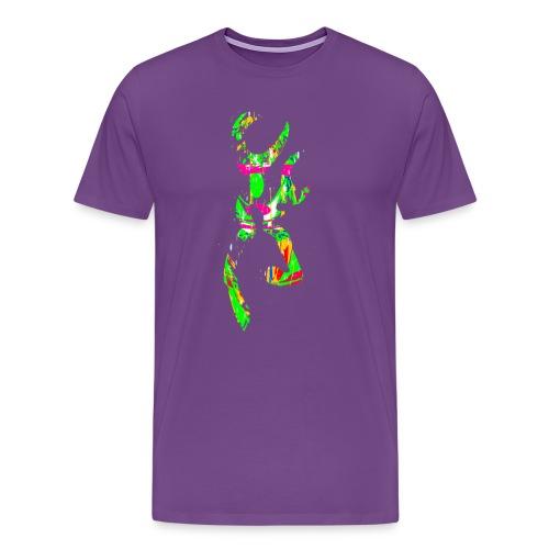 multi color deer - Men's Premium T-Shirt