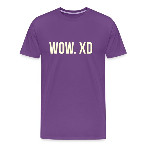 WOW. XD - Men's Premium T-Shirt