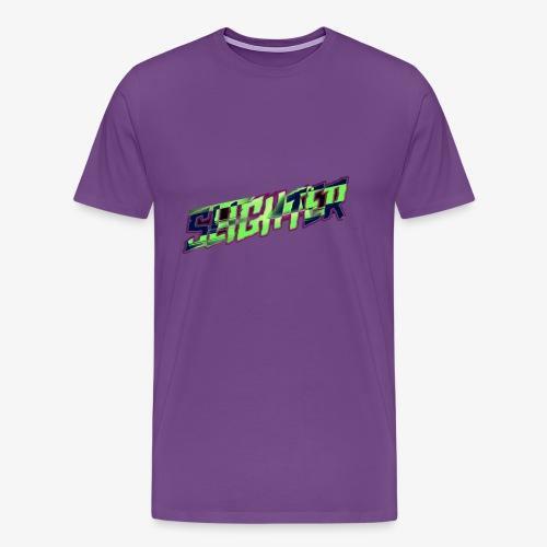 Retro Logo Glitch - Men's Premium T-Shirt