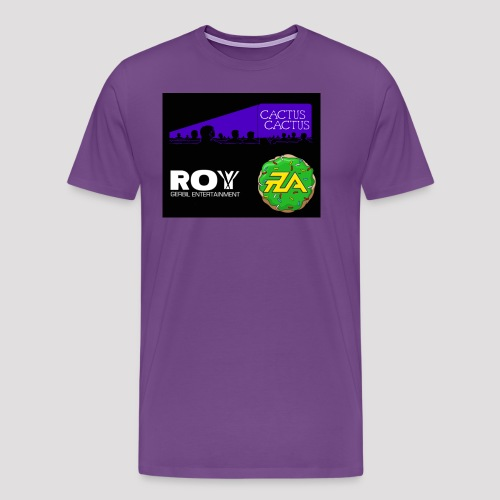 A_Cactus_Purple - Men's Premium T-Shirt