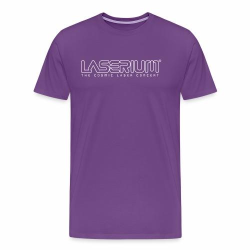 Laserium Logo OL White Tag - Men's Premium T-Shirt