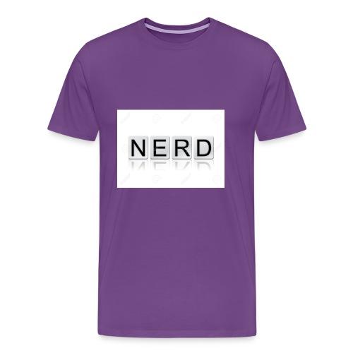 66188244 The word Nerd written in tile letters iso - Men's Premium T-Shirt