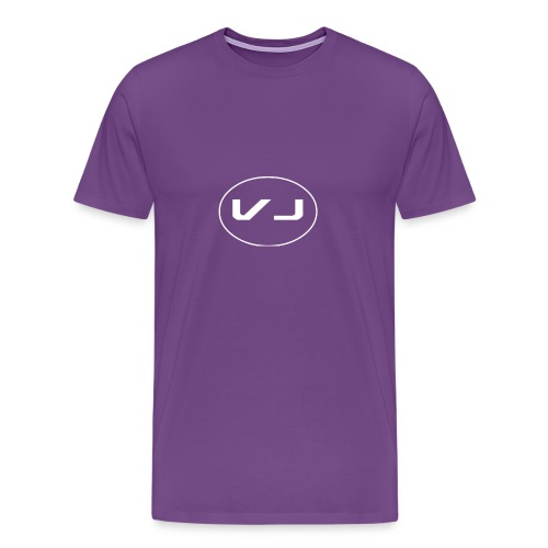Vloggerjoe White circle lgo - Men's Premium T-Shirt