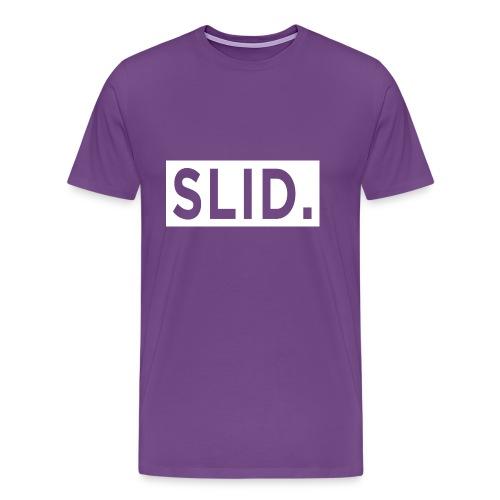 WHITE SLID. - Men's Premium T-Shirt