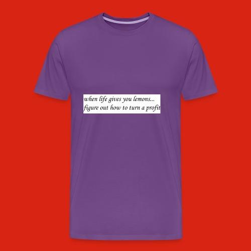 when life gives business man lemons - Men's Premium T-Shirt
