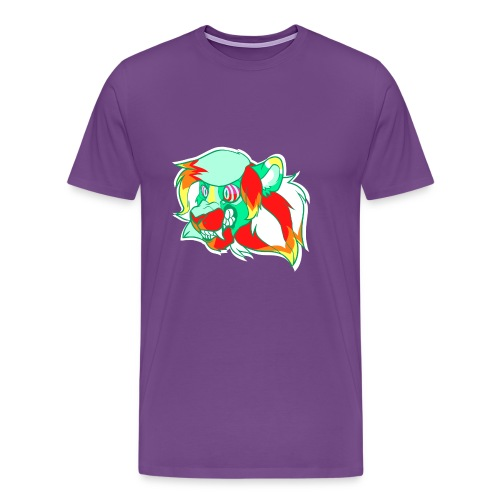 Psychedelic Lion - Men's Premium T-Shirt
