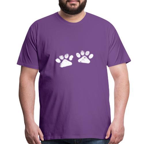 Two White Paws - Dog Lovers - Men's Premium T-Shirt
