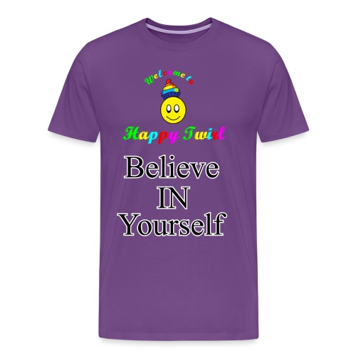 HTS Believe in Yourself Highlighted Logo - Men's Premium T-Shirt