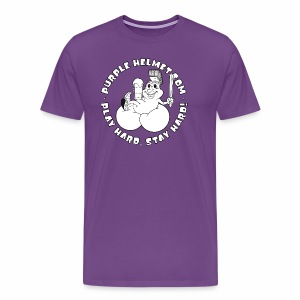 Petey Purple Helmet Bean Bags B & W - Men's Premium T-Shirt